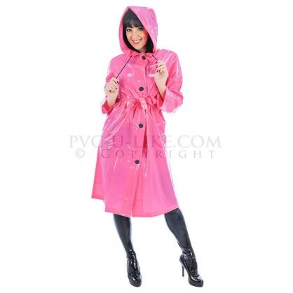 Růžový retro kabát