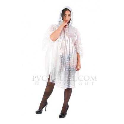 PVC bílé průhledné pončo