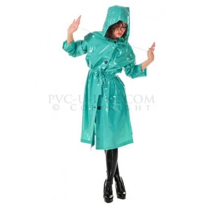 Zelený retro kabát