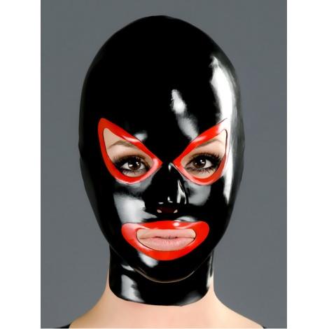Latexová maska s červenou konturou