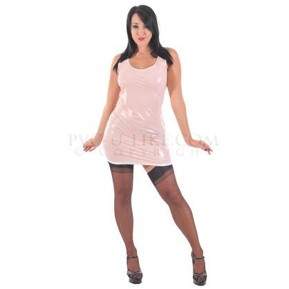 Latexové šaty růžové