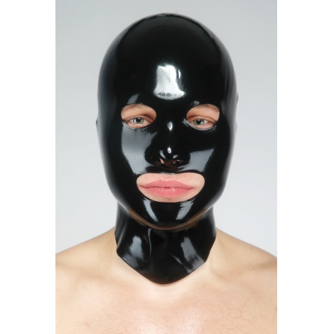 Latexová máčená maska se všemi otvory s krátkým límcem