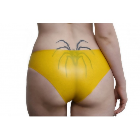 Žluté latexové sexy kalhotky