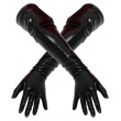 Latexové červené dlouhé rukavice Petra