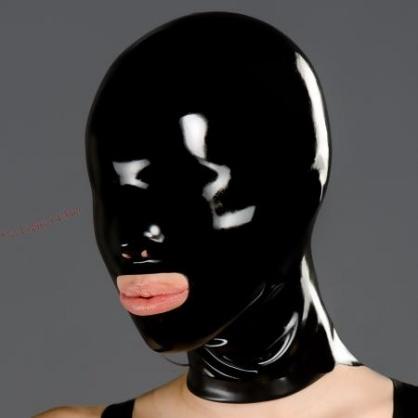 Transparentní latexová maska s otevřenou pusou POLYMORPHE