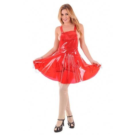 PVC krátká zástěra s rozšířenou sukní