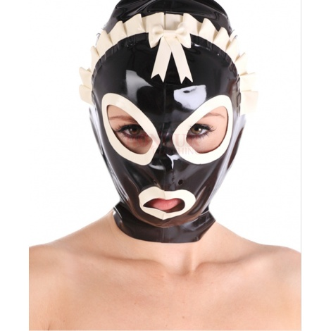 Latexová maska služebné Maids Hood