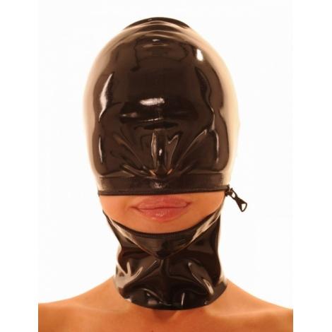 Latexová maska se zipem přes ústa
