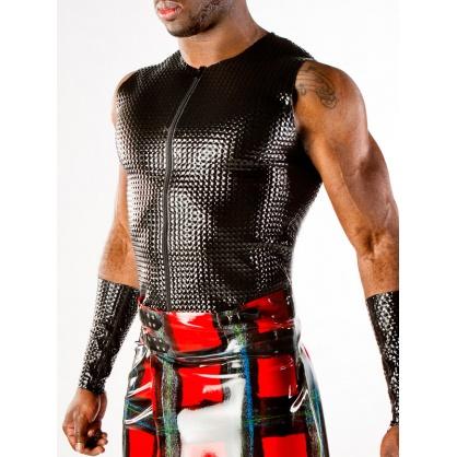 Latexová texturovaná vesta s předním zipem POLYMORPHE
