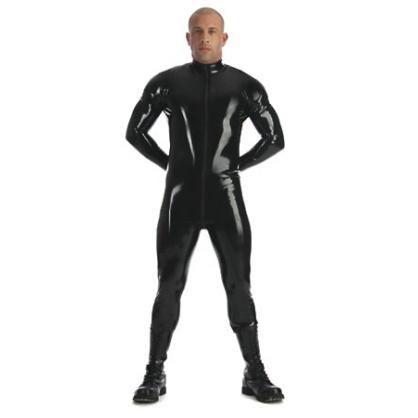 Latexový pánský catsuit s 3cestným zipem BLACKSTYLE