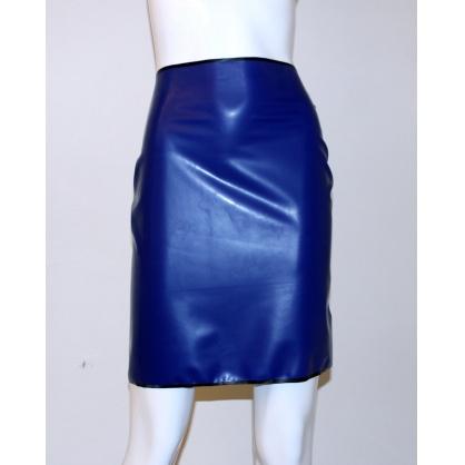 Latexová dámská sukně modrá