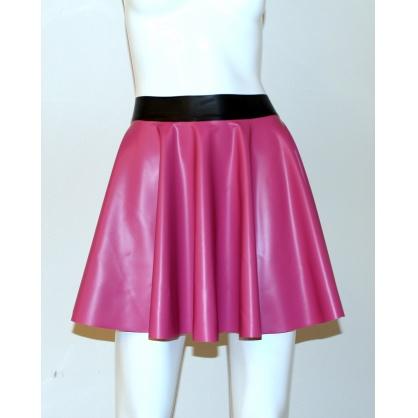 Latexová kolová dámská sukně - old pink