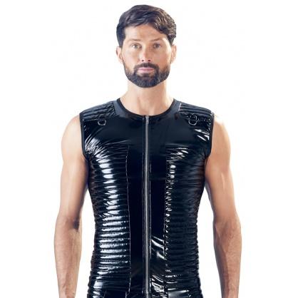 Pánská laková vesta s předním zipem