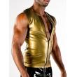 Latexová vesta Metallic Gold se zipem - POLYMORPHE