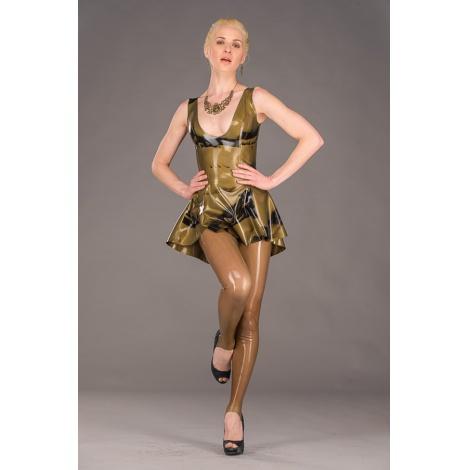 Latexové šaty zlatočerné POLYMORPHE