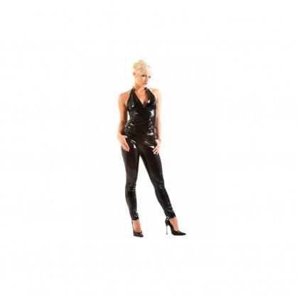 Lakové úzké džíny s kapsami vpředu a klasickým zapínáním