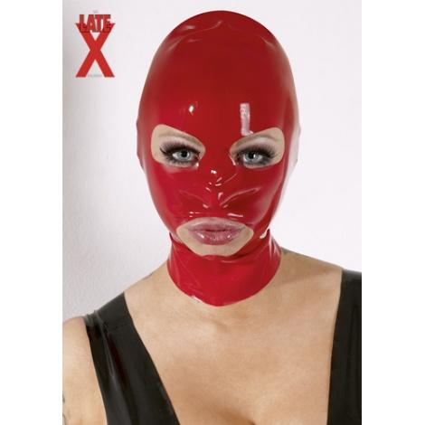 Latexová maska s otvory na oči, ústa a nos bez zapínání