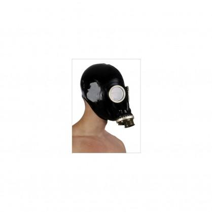 Latexová ruská plynová maska se závitem na hadici nebo filtr BLACKSTYLE