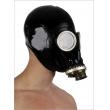 Latexová ruská plynová maska se závitem na hadici nebo filtr