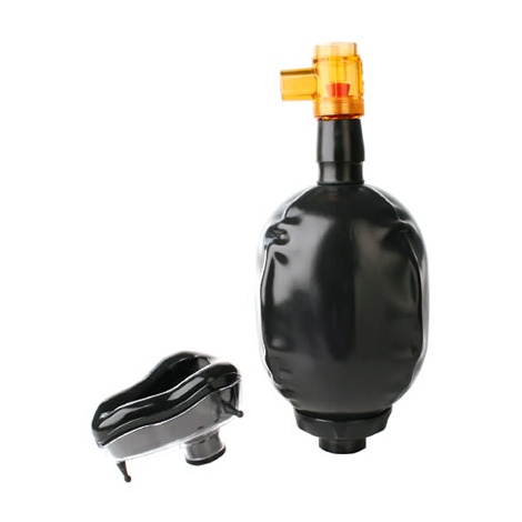 Černá latexová respirační dýchací maska s vakem