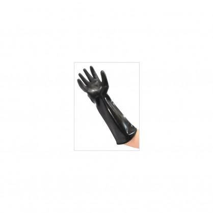 Latexové silné středně dlouhé rukavice černé