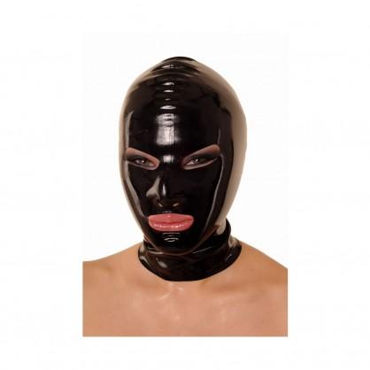 Latexová maska se zúženýma očima a zadním zipem