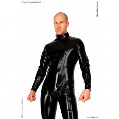 Latexový catsuit základní se zadním zapínáním na třícestný zip