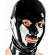 Černá latexová maska s otevřenými všemi otvory