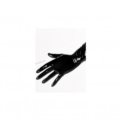 Černé latexové krátké rukavice