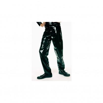 Latexové džíny pánské se zadními kapsami a poutky -3037