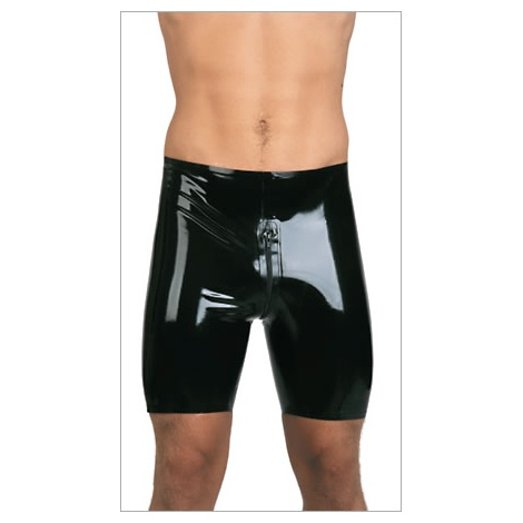 Latexové těsné šortky se zipem BLACKSTYLE