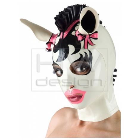 Latexová pony maska pro milovníky zvířat