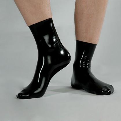 Latexové MODRÉ ponožky 1620-S3