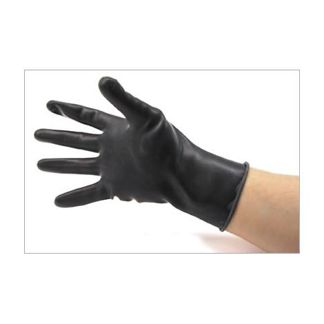 Latexové silné krátké rukavice černé