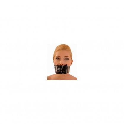 Latexový pásek přes ústa s nastavitelnou přezkou
