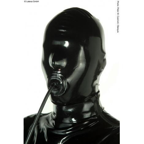 Latexová maska s nafukovacím roubíkem a malými otvory