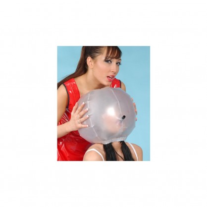 PVC nafukovací maska s trubičkou pro připevení vaku