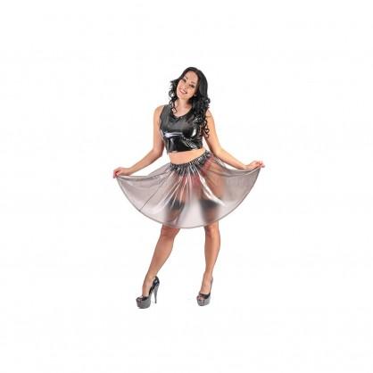 PVC dámská kolová sukně s pružným pasem