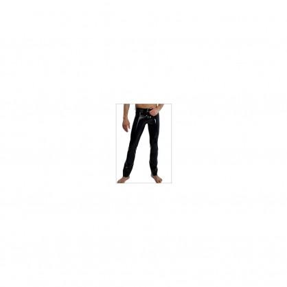 Latexové klasické pánské džíny s předním zapínáním
