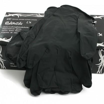 Latexové černé jednorázové rukavice 100 ks