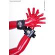 Latexová pouta na ruce s D-kroužkem