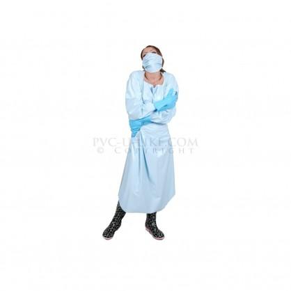 Zavinovací PVC doktorská uniforma s rouškou