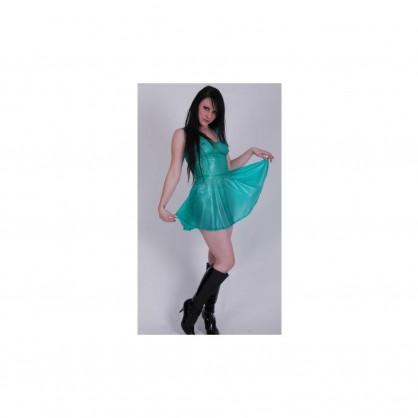 PVC dámské šaty s kolovou sukní v různých barvách