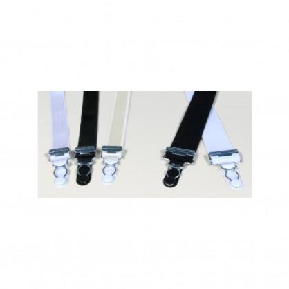 Černé textilní podvazkové pásky ke korzetům