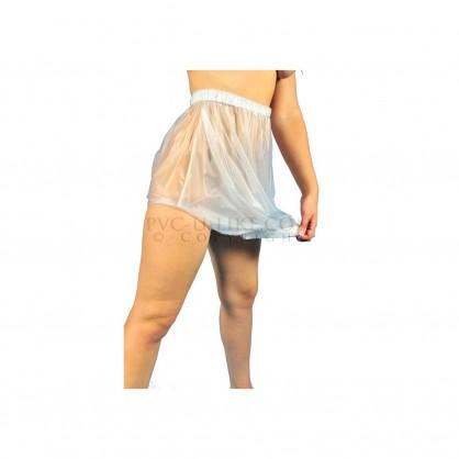 PVC extra vysoké kalhotky s pružným otvorem v rozkroku