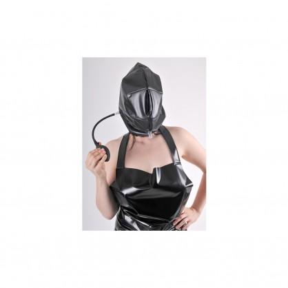 PVC nafukovací maska v barvě černé s puntíky