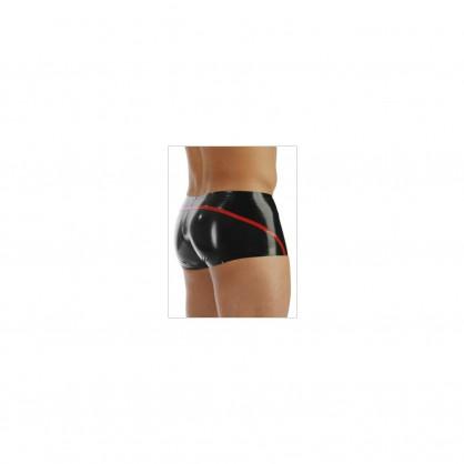 Latexové pánské šortky s kontrastním proužkem