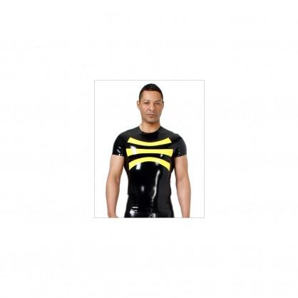 Latexové triko s krátkým rukávem a kulatým límečkem