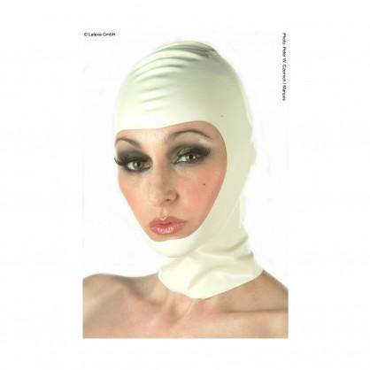 Latexová maska s otevřenou tváří s volitelným zapínáním