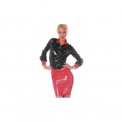 Latexová dámská sukně končící nad koleny - Many